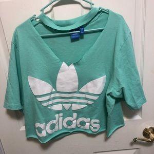 Mint Green Adidas t-shirt!